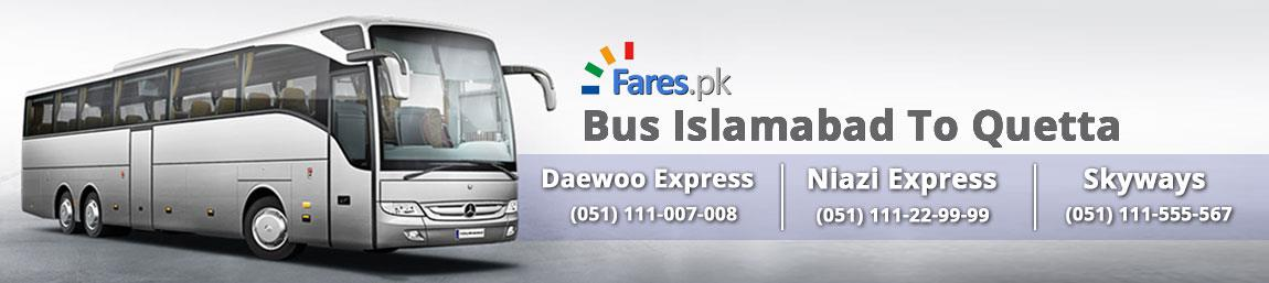 Fares Pk Bus Travelling From Islamabad To Quetta Daewoo Niazi Express